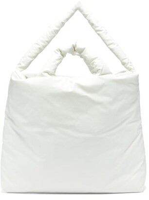 Kassl Editions Oil Large Padded Canvas Tote Bag - White