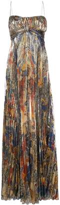 Dundas pleated paisley-print maxi dress