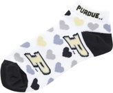 For Bare Feet Women's Purdue Boilermakers Heart Logo Repeat Socks