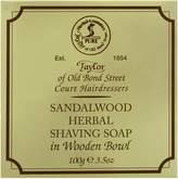 Taylor of Old Bond Street Sandalwood Shave Soap in Wooden Bowl, 100 Gram