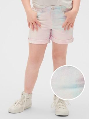 Gap Kids Tie-Dye Denim Midi Shorts