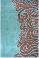 "Momeni New Wave Original"" NW-88 Turquoise Area Rug, 8' x 11'"