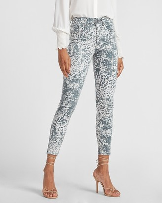 Express High Waisted Animal Print Skinny Jeans