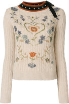 RED Valentino floral patterned jumper