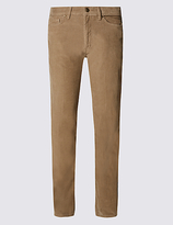 M&s Collection Pure Cotton Jean Style Corduroy Trousers