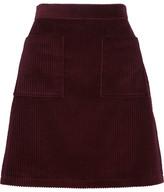 A.P.C. Solene Cotton-corduroy Mini Skirt