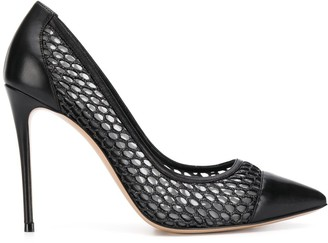 Casadei Toe-Cap Mesh Pumps