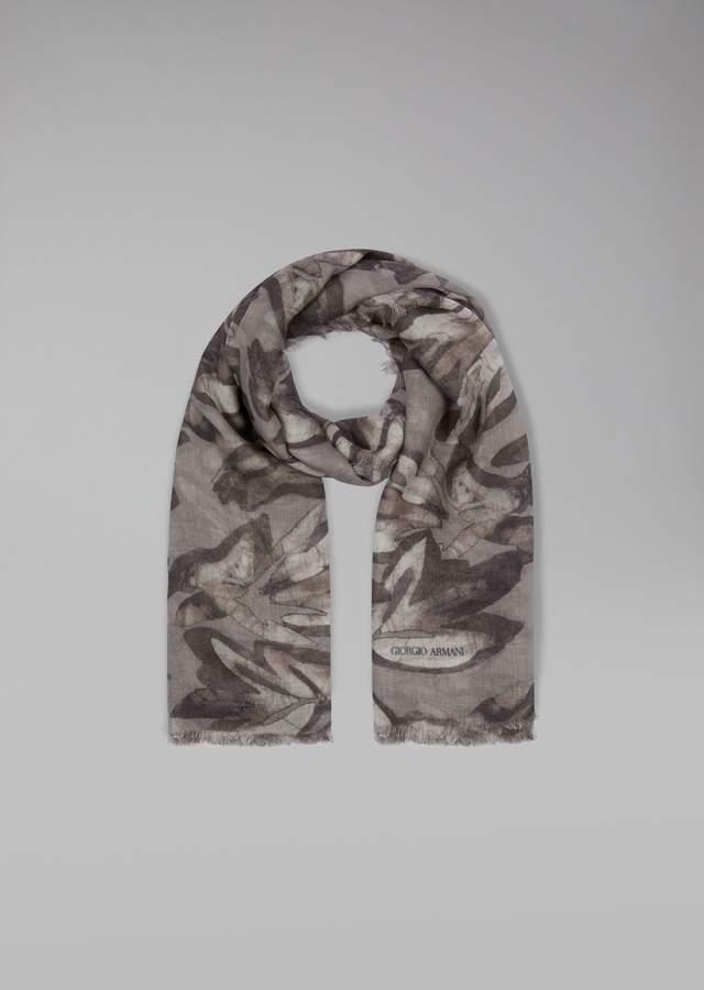 Giorgio Armani Brushed Fabric Scarf