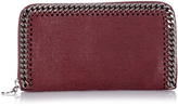 Stella McCartney Falabella faux-suede zip-around wallet