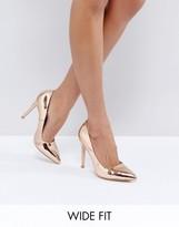 Truffle Collection Wide Fit Heel Court Shoe Heels