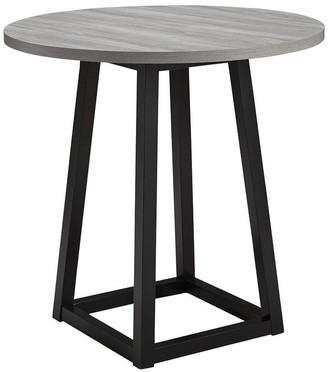 Signature Design by Ashley Showdell Contemporary Round Dining Room Counter Table, Gray/Black - 36 in