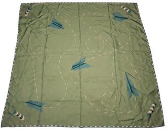 Bvlgari Green Silk Scarves