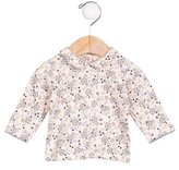 Petit Bateau Girls' Floral Print Collared Top
