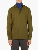 Haider Ackermann Khaki Cotton Military Shirt