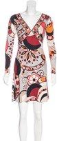 Emilio Pucci Abstract Print Silk Dress