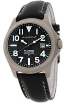 Momentum Atlas Men's Quartz Watch with Black Dial Analogue Display and Black Leather Strap 1M-SP00B2B