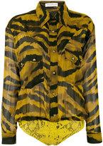 Faith Connexion animal print shirt - women - Silk/Cotton/Polyamide/Lyocell - 38