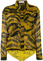 Faith Connexion animal print shirt - women - Silk/Cotton/Polyamide/Lyocell - 40