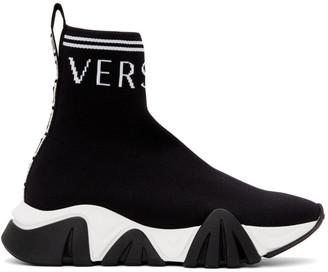 Versace Black Logo Sock Sneakers