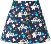 DELPOZO stars print A-line skirt - women - Cotton/Polyester - 36