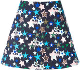 DELPOZO stars print A-line skirt
