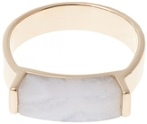 Monica Vinader Rose Gold Plated Lace Agate Linear Ring