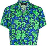 DSQUARED2 cropped Hawaiian print shirt