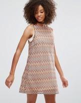 Glamorous Border Print Shift Dress