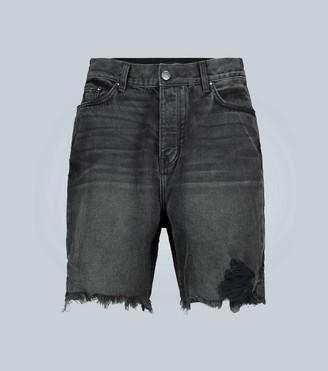 Amiri Half Track Denim Shorts