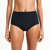 J.Crew High-waisted bikini bottom in piqué nylon