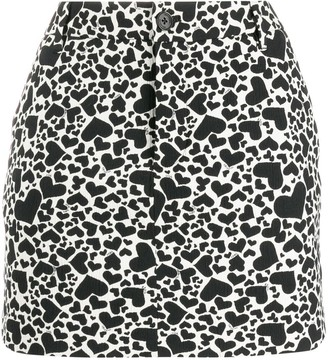 Zadig & Voltaire Heart print mini skirt