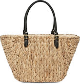 Straw Studios Water Hyacinth Contrast Tote