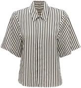 Ami Alexandre Mattiussi Striped Viscose Short Sleeve Shirt