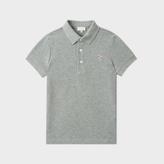 Paul Smith Boys' 7+ Years Grey Zebra-Logo 'Muciano' Polo Shirt