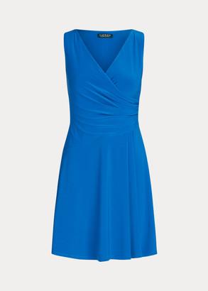 Ralph Lauren Matte Jersey Surplice Dress
