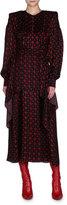 Fendi Graphic Star-Print Ruffle Midi Dress