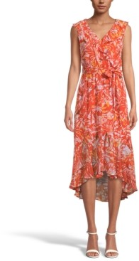 INC International Concepts Inc Printed Ruffled Midi Dress, Created for Macy's