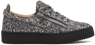 Giuseppe Zanotti Silver Glitter May London Sneaker