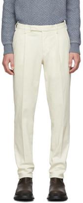 Ermenegildo Zegna Off-White Garment-Dyed Trousers