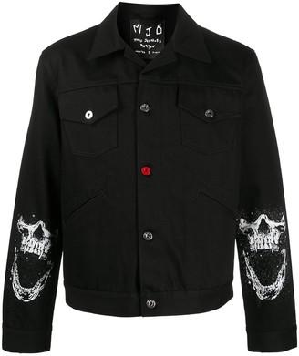 Mjb Marc Jacques Burton Skull-Print Shirt Jacket