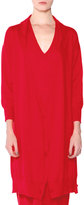 Tomas Maier Three-Way Long Cashmere Cardigan, Red