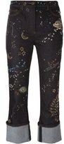 Valentino Astro Couture jeans - women - Cotton/Polyester/Spandex/Elastane/Metallic Fibre - 26