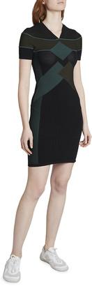 Kenzo Sporty Viscose Short-Sleeve Dress
