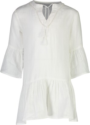 Snapper Rock Fluted Organic Cotton Cover-Up Caftan