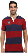 U.S. Polo Assn. Short Sleeve Rugby Stripe Polo Shirt