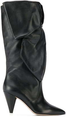 ATTICO ruched boots