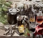 Pottery Barn Saddle Noir Bar Ice Bucket With Tongs