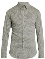 Giorgio Armani Mini Zigzag-print Cotton-jersey Shirt