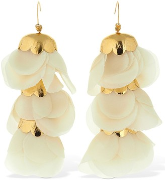 Elise Tsikis DELICIAS WITH PENDANT FLOWERS EARRINGS