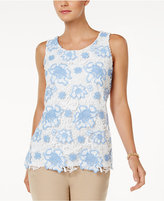 Charter Club Floral Lace Tank Top, Only at Macy's